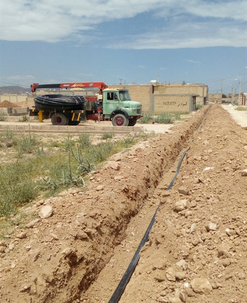 توسعه شبکه آبرسانی در شهر مرودشت