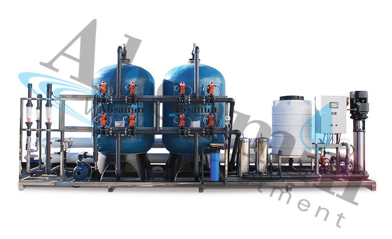 اسمز معکوس آبهای لب شور | آب شیرین کن ۳۰۰ متر مکعب