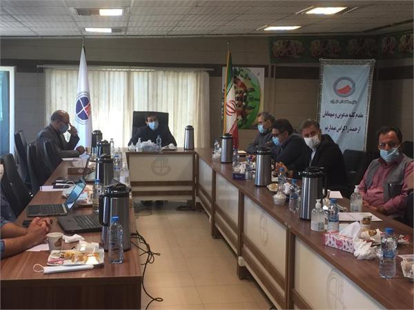 جلسه روند پیشرفت پروژه های تصفیه فاضلاب غرب تهران