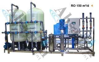 دستگاه تصفیه آب صنعتی با ظرفیت ۱۵۰ متر مکعب درشبانه روز